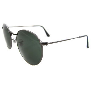 04f3061a002 Ray-Ban Sunglasses Round Metal 3447 029 Gunmetal Green Medium 50mm ...