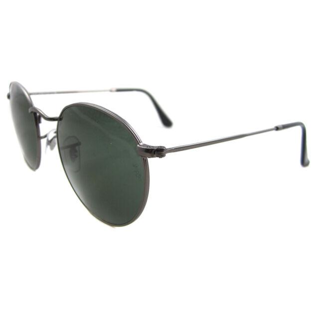 ce888835ae Ray-Ban Sunglasses Round Metal 3447 Gunmetal Green Medium 47mm ...