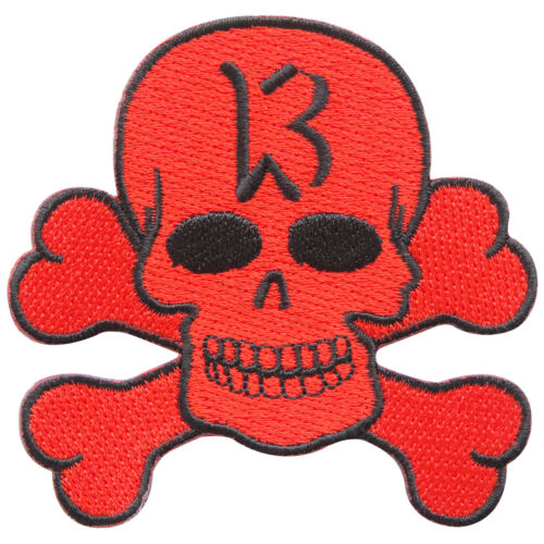 Red Lucky 13 Skull Crossbones Biker Motorcycles Rockabilly Iron on Patch #SK018