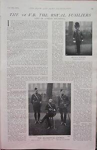1902 Imprimé ~1st Bénévoles Bataillon Royal Fusiliers Régiment De Londres Nommé Djkpufz3-08004808-249054253