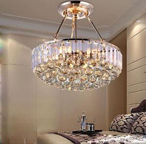 Details about D42cm Modern K9 Clear Crystal Chandelier Lamps Restaurant  Light Bedroom Lighting