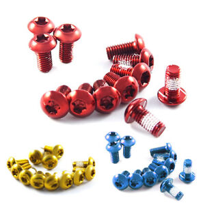 Disc Brake Bolts M5x10mm T25 Head Coloured with Threadlock Pack of 12