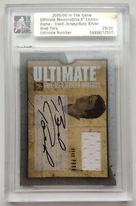 2005-06-ITG-Ultimate-Memorabilia-28-50-Brad-Park-Autograph-Jersey-Card