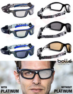 4438b08c7dce Image is loading Bolle-Safety-Glasses-BOLLE-TRACKER-amp-BAXTER-PLATINUM-