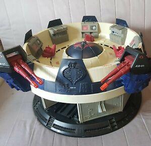 "Vintage G.I. JOE ARAH ""COBRA COMMAND TERROR DROME""  Playset, Hasbro 1986-""AS IS"""