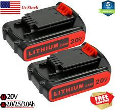 2.0//2.5//3.0AH LBXR20 For Black /& Decker 20v MAX Lithium Battery LBXR20-OPE LB20