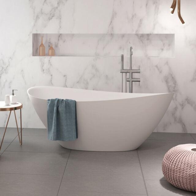 Hoesch Namur Freistehende Badewanne 160 X 75 Cm Mineralguss Weiss Gunstig Kaufen Ebay