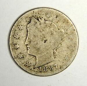 1887 Liberty Nickel F Uncertified