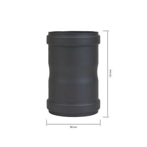 Pelletrohr Verbindungsstück Ø 80mm Schwarz /& Grau Pellet Kamin Rohr Ofenrohr