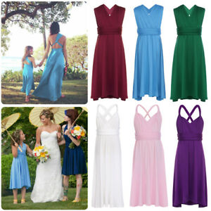 b55f5d131 Girls Infinity Gown Flower Girl Dresses Multi Way Convertible Long ...
