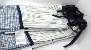 Nautica-Kids-Cribskirt-Blue-White-Green-Stripe-Plaid-Baby-Nursery-Bedding