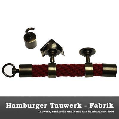 Hamburger Tauwerk Fabrik 2 Endkappen und 8 Seiltr/äger bronziert f/ür 30mm Handlaufseil