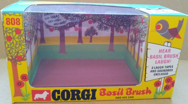 corgi toys 808 basil brush with soundbox repro box with only