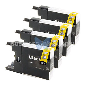 4-BLACK-LC71-LC75-Compatible-Ink-Cartridge-for-Brother-LC75BK-HIGH-YIELD-LC71BK