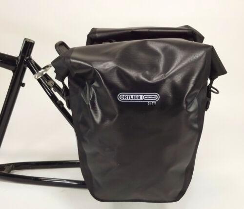 Black Pair Ortlieb Back-Roller City 40L Rear Bicycle Panniers,Waterproof