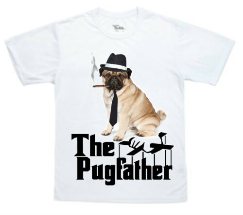 The Pug Father Funny Pug T-Shirt can be personalised great gift for christmas