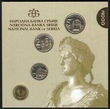 Yugoslavia Official Central Bank Mint Set 2000. 4 Coins, 50 Para, 1, 2, 5 dinara