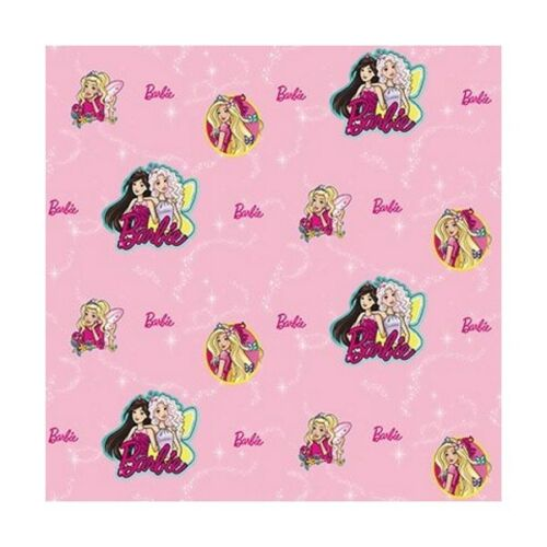 Barbie Pretty Princess Butterflies And Sparkle 100/% Cotton Curtain Lining Fabric