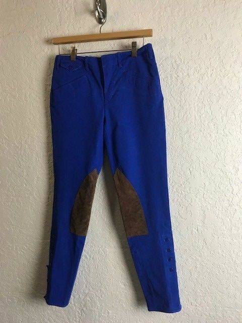 Ralph Lauren brand  bluee horse polo riding pants. Women's. Size 6