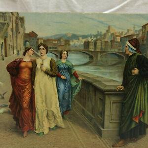 Vintage-Postcard-Dante-and-Beatrice-Henry-Holiday-Stengel-Unused