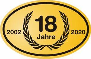 18-Geburtstag-Jubilaeum-Feier-Aufkleber-PKW-Fenster-Jubeljahr-Birthday