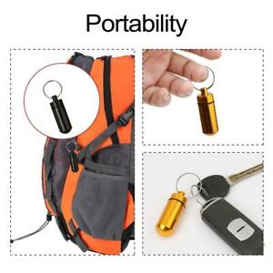 Waterproof-Aluminum-Pill-Box-Case-Bottle-Cache-Drug-TI-Holder-Container-I0W9