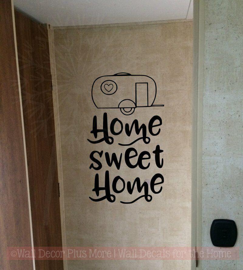 "Vintage Camper /""Home Sweet Home/"" Wall Art"