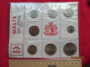 Malta-Ammo-Pouch-Decimal-Coins-KMS-1972-With-8-Coins