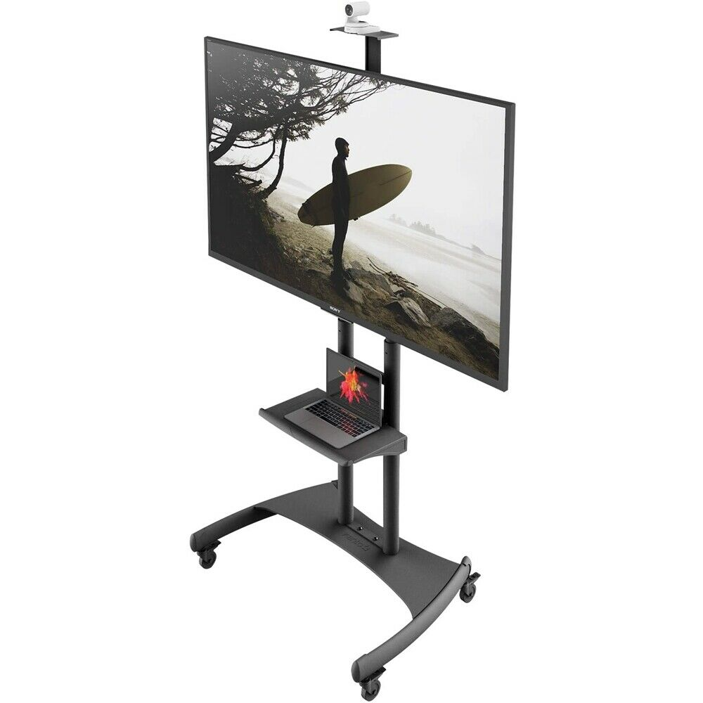 Kanto - Mobile TV Stand for Most Flat-Panel TVs Up to 82 - Black. Available Now for 279.99