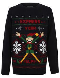 """Per Bambini a Maglia 'esprimere la vostra Elf Christmas Jumper"""""""
