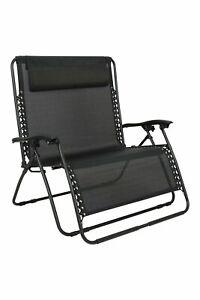 Mountain Warehouse Uni Double Reclining Chair - Plain Large Chair