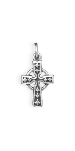 Celtic Cross Charm Sterling Silver Pendant  Small