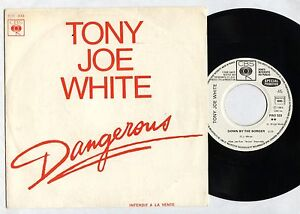 Tony-Joe-WHITE-Dangerous-Down-by-the-border-FRENCH-PROMO-7-034-w-PS-CBS-1983