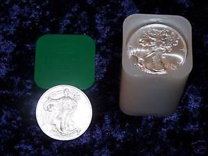 2002 American Eagle 1oz Silver Bullion Coins Roll Of 20