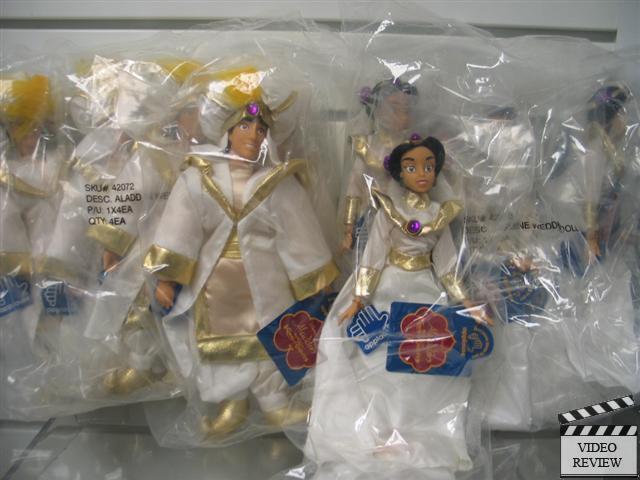 Aladdin och Jasmine bröllop Par; New; Factory Wrap; Applåder; 1992; RARE