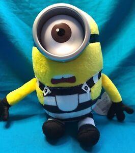 "TOM Despicable Me 3 TY 6/"" Beanie Baby Plush Stuffed Animal Prison Uniform"