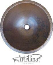 Ariellina 16 Gauge Handmade Round Lavatory Bath Copper Sink Life Warranty AC9000