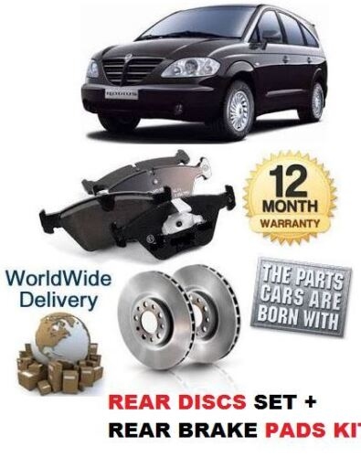 PAD SET OE QUALITY FOR SSANGYONG RODIUS 2.7DT 5//2005-/> NEW REAR BRAKE DISC SET