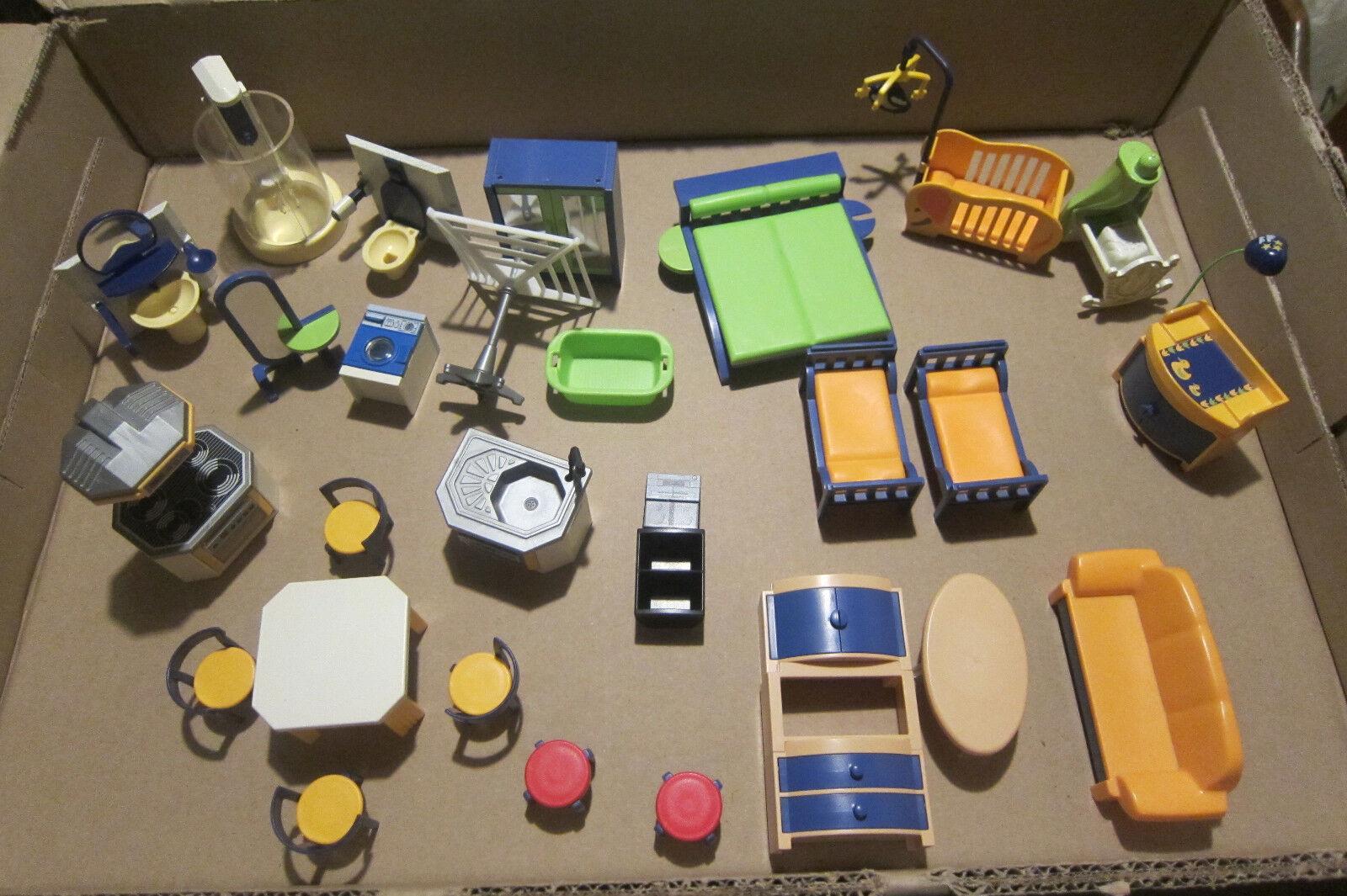 Playmobil Lot Chambre Maison Salle De Bains Chambre Lot Cuisine