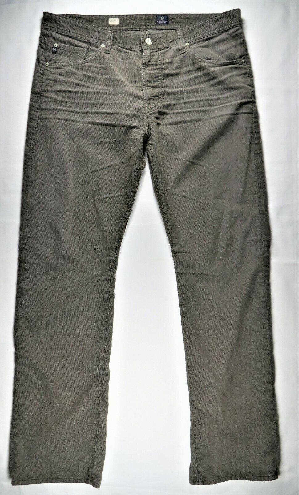 AG Adriano goldschmied Predege Mens Corduroy Pants 40x34 Straight Leg USA-Made