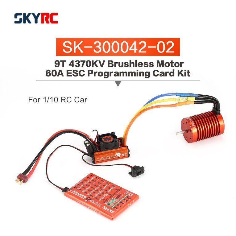 CieloRC 9T 4370KV Brushless Motor 60A ESC Programming  autod Kit for 1 10 RC  oi  la migliore selezione di