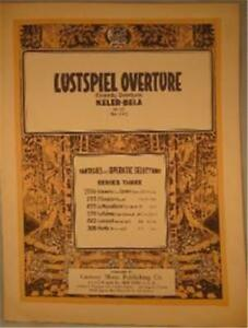Vintage-Sheet-Music-Lustspiel-Overture-Comedy-Piano-Op-73-No-642