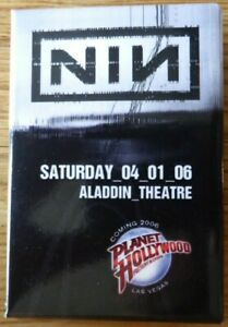 NIN-Nine-Inch-Nails-Planet-Hollywood-Las-Vegas-Tour-Metal-Rock-Music-pin-Badge