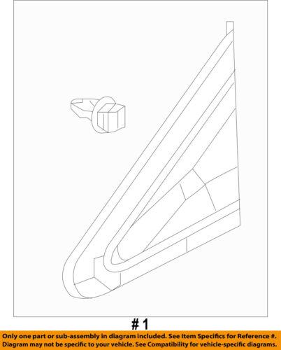 HONDA OEM 12-15 Civic Exterior-Pillar Trim Left 75495TR3A01
