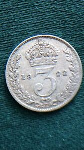 George-V-1922-Threepence-Key-Date-500-Silver-Coin
