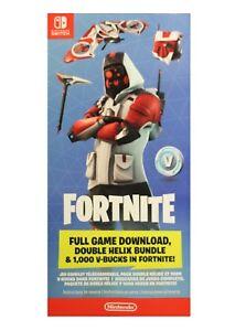 Nintendo Switch Double Helix Fortnite Skin 1000 V Bucks No