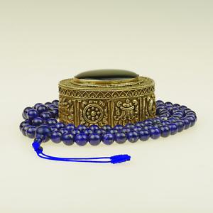Lapis-Lazuli-Collier-Mala-Grand-Bleu-Afghanistan-Collier-de-Perles-37a