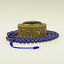 Lapis-Lazuli-Collier-Mala-Grand-Bleu-Afghanistan-Collier-de-Perles-37a miniature 1