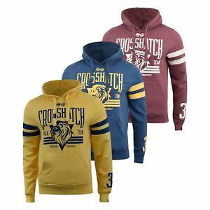 Mens-Hoodie-Crosshatch-Clothing-Sweatshirt-Hooded-Jumper-Top-Pullover-Cramform