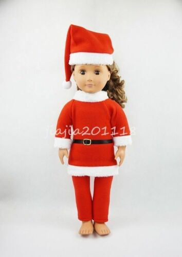 Christmas Costumes /& Hat Fit For 18/'/'American Girl Doll Clothes Girl Gift New